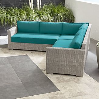 Ventura Quartz 3-Piece Loveseat Sectional with Sunbrella ® Cushions