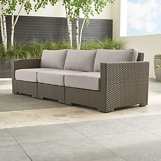 Ventura Umber 3-Piece Sofa Sectional with Sunbrella ® Cushions