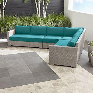Ventura Quartz 4-Piece Loveseat Sectional with Sunbrella ® Cushions
