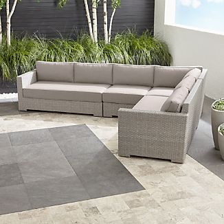 Ventura Quartz 4-Piece Loveseat Sectional with Sunbrella ® Cushions