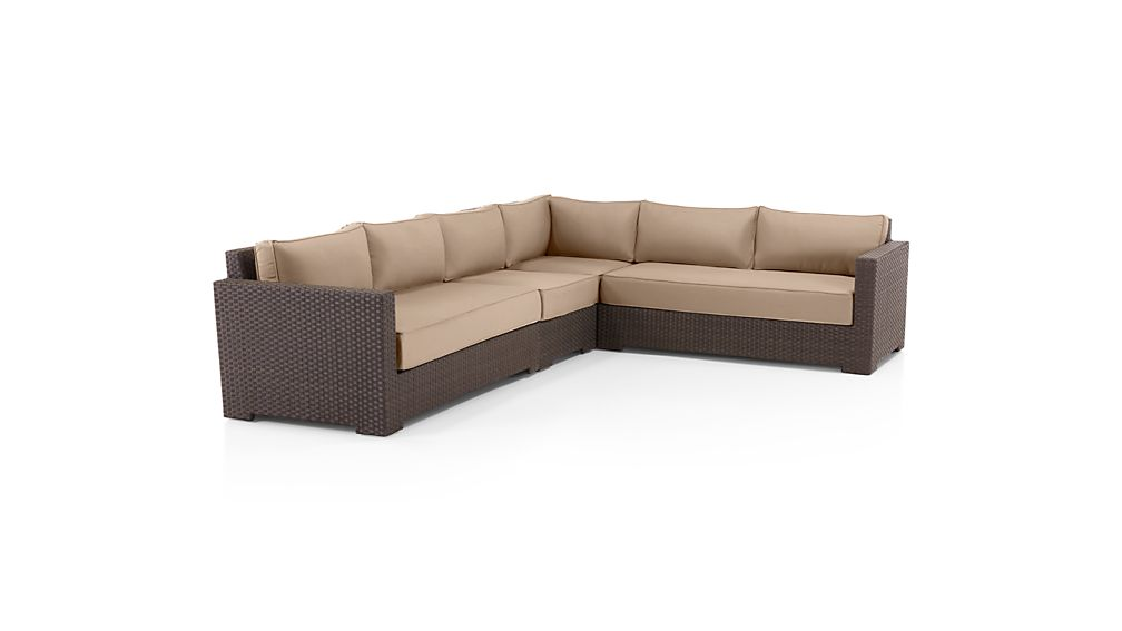 Ventura Umber 4-Piece Loveseat Sectional with Sunbrella ® Cushions