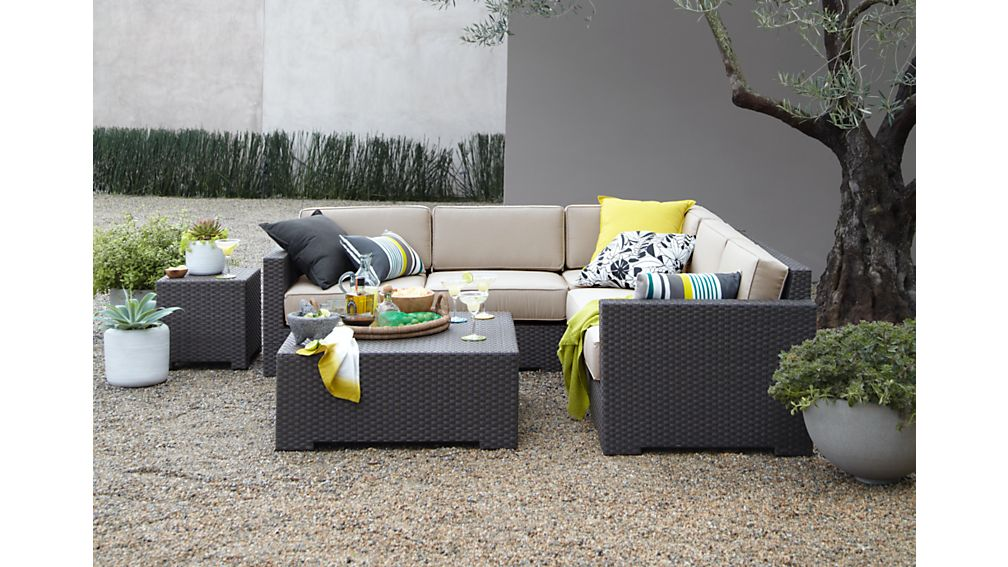 Ventura Umber Modular Left Arm Chair with Sunbrella ® Cushions