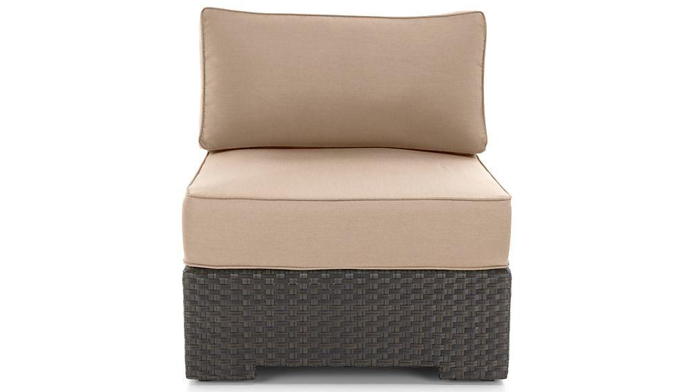 Ventura Umber Modular Armless Chair with Sunbrella ® Cushions