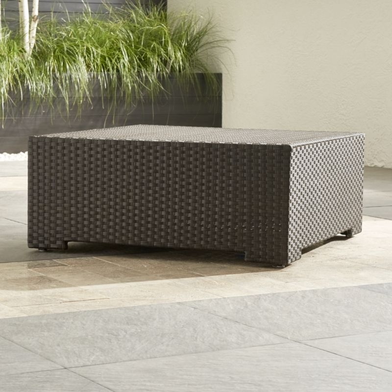Ventura Umber Coffee Table - Outdoor Coffee Table Crate And Barrel