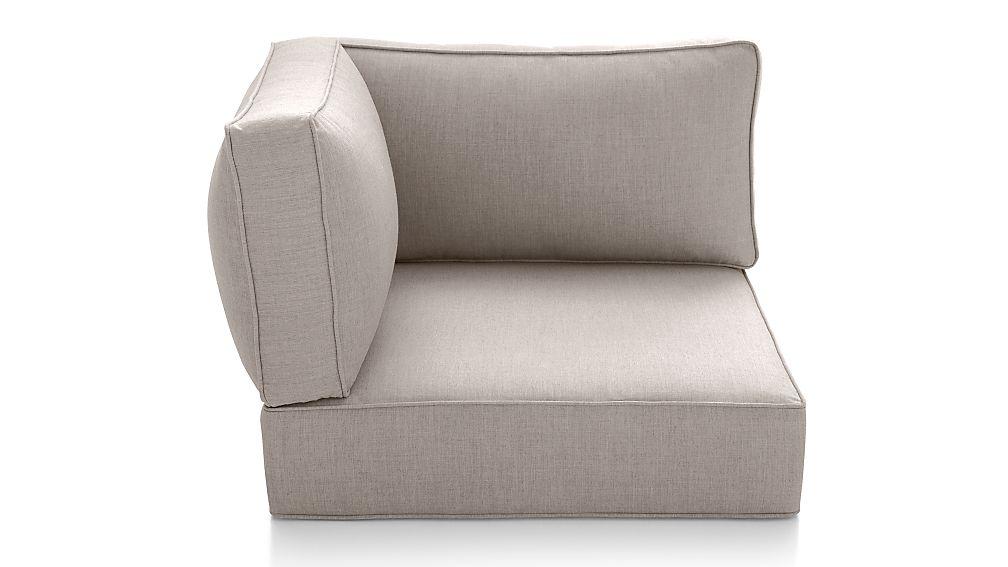 Ventura Silver Sunbrella ® Modular Corner Cushions - Image 1 of 4