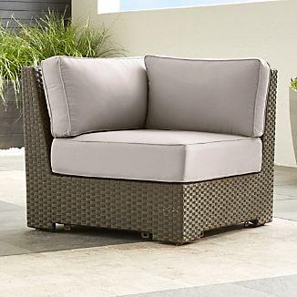 Ventura Umber Modular Corner with Sunbrella ® Cushions
