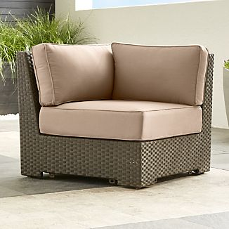 Ventura Umber Modular Corner Chair with Sunbrella ® Cushions