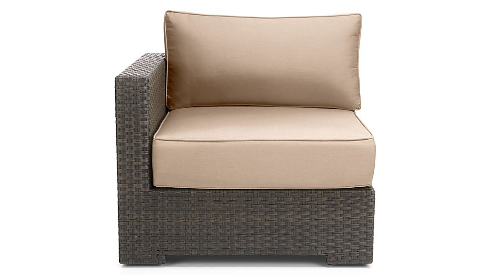 Ventura Umber 4-Piece Loveseat Sectional with Sunbrella ® Cushions