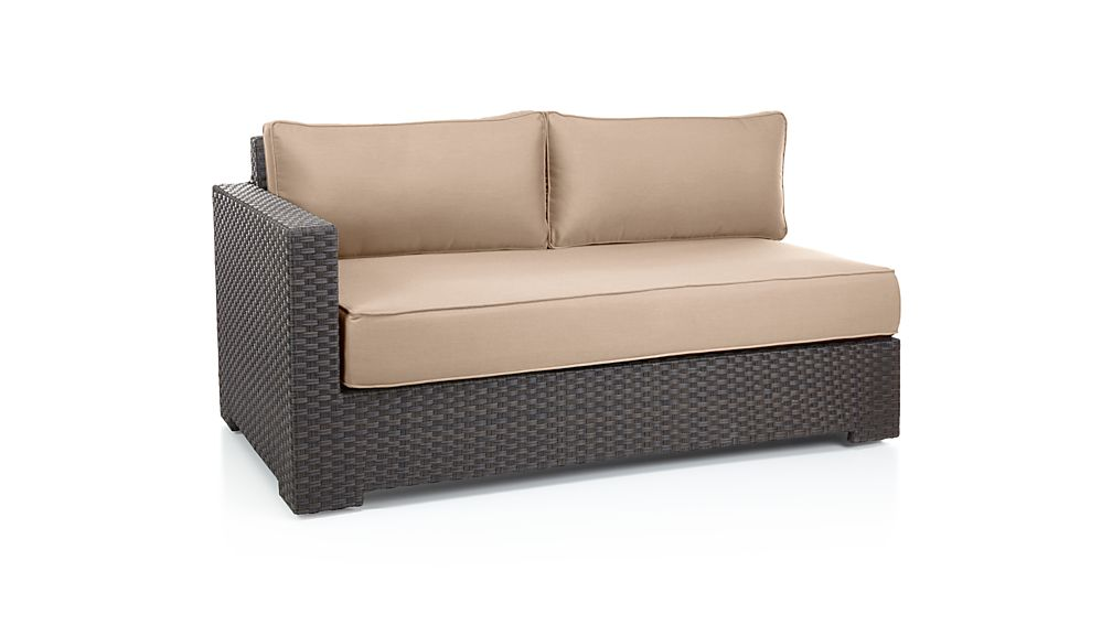 Ventura Umber Modular Left Arm Loveseat with Sunbrella ® Cushions