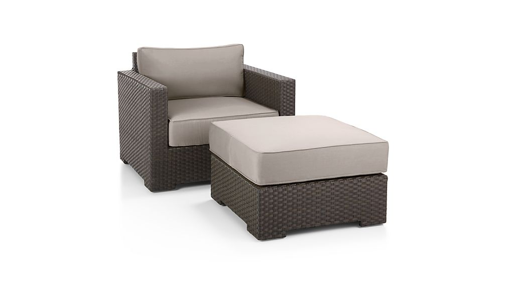 Ventura Umber Ottoman with Sunbrella ® Cushion