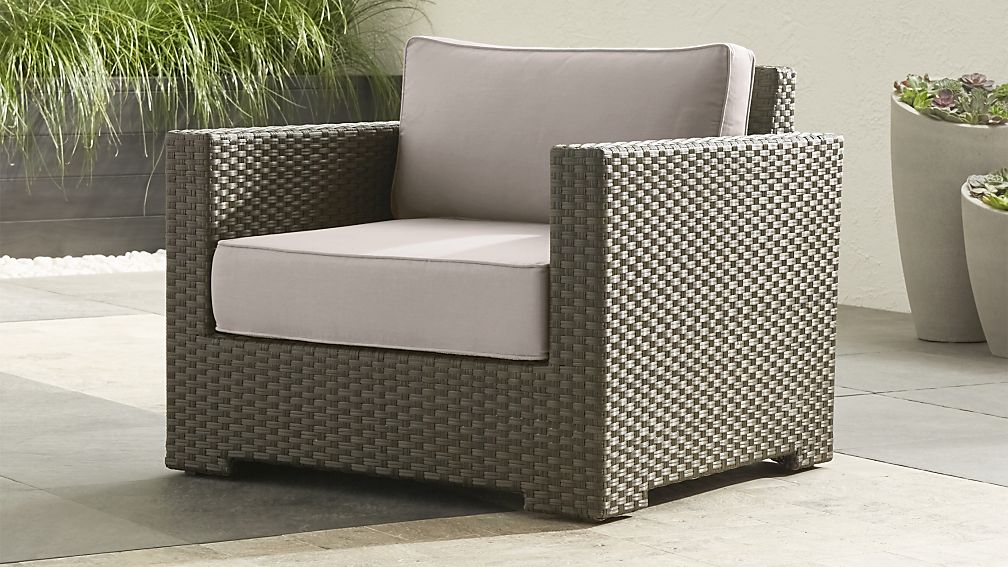 ventura umber grey outdoor lounge chair reviews crate. Black Bedroom Furniture Sets. Home Design Ideas