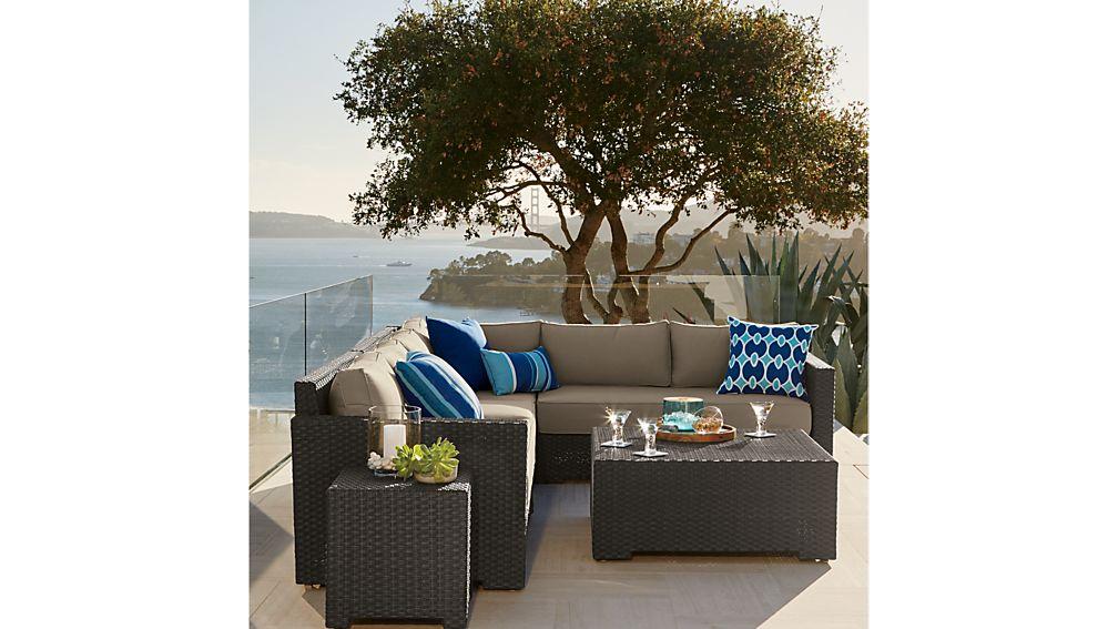 Ventura Umber Modular Corner Chair with Sunbrella ® Cushions