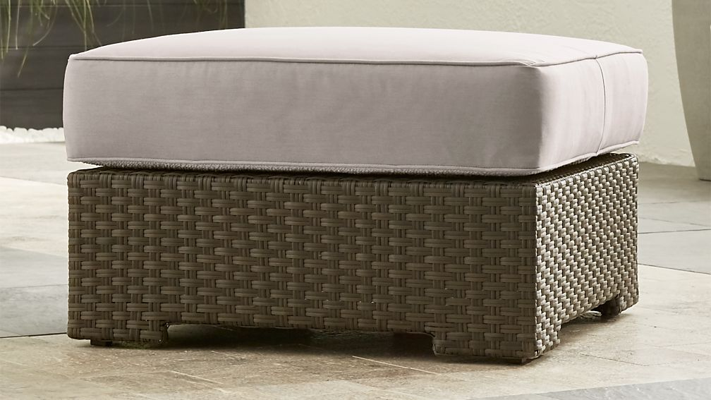 Ventura Umber Ottoman with Sunbrella ® Cushion