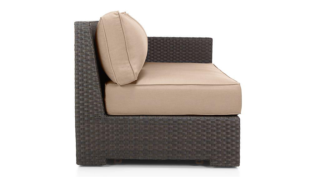 Ventura Umber Modular Right Arm Loveseat with Sunbrella ® Cushions