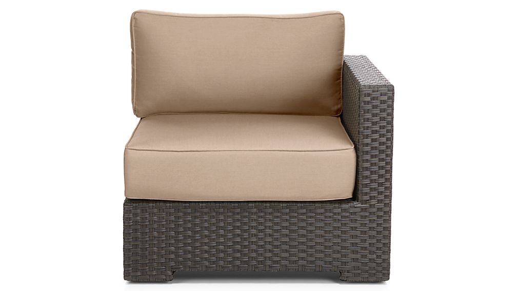 Ventura Umber Modular Right Arm Chair with Sunbrella ® Cushions
