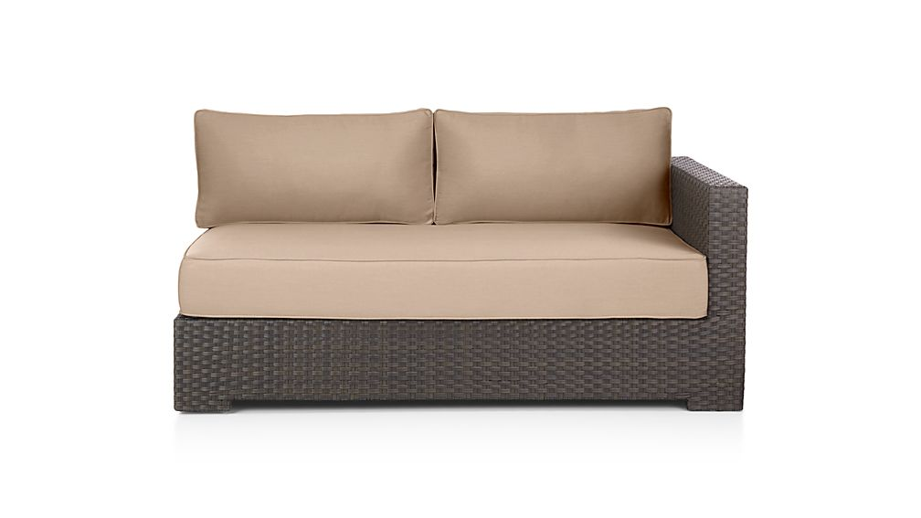 Ventura Umber Modular Right Arm Loveseat