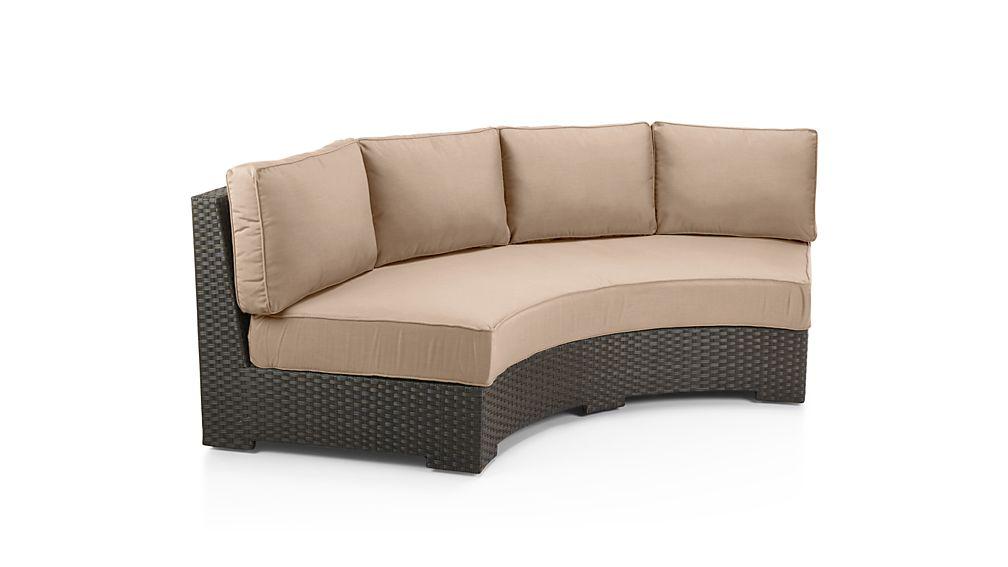 Ventura Umber Round Left Arm Chair