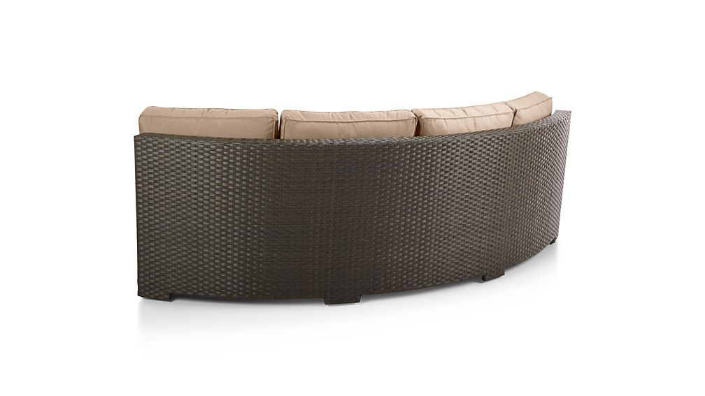 Ventura Umber Round Left Arm Sofa with Sunbrella ® Cushions