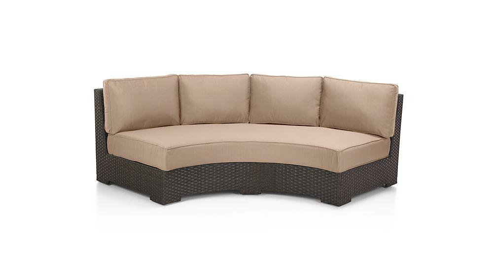 Ventura Umber Round Right Arm Sofa with Sunbrella ® Cushions