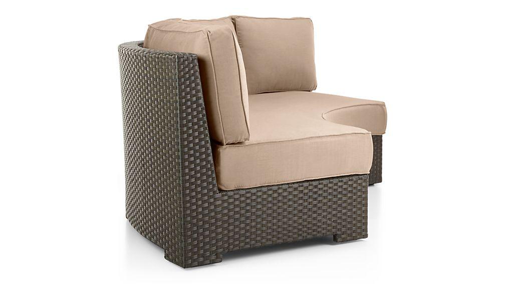 Ventura Umber Round Armless Sofa with Sunbrella ® Cushions