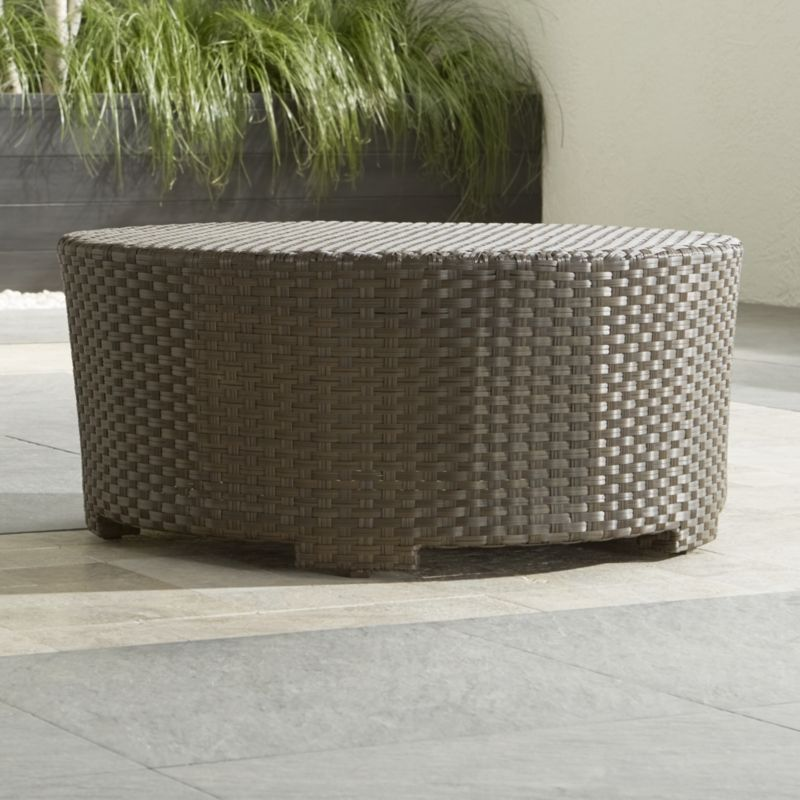 - Ventura Umber Round Coffee Table Crate And Barrel