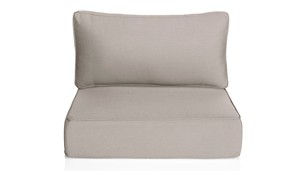 Ventura Silver Sunbrella ® Modular/Lounge Chair Cushions - Image 1 of 7