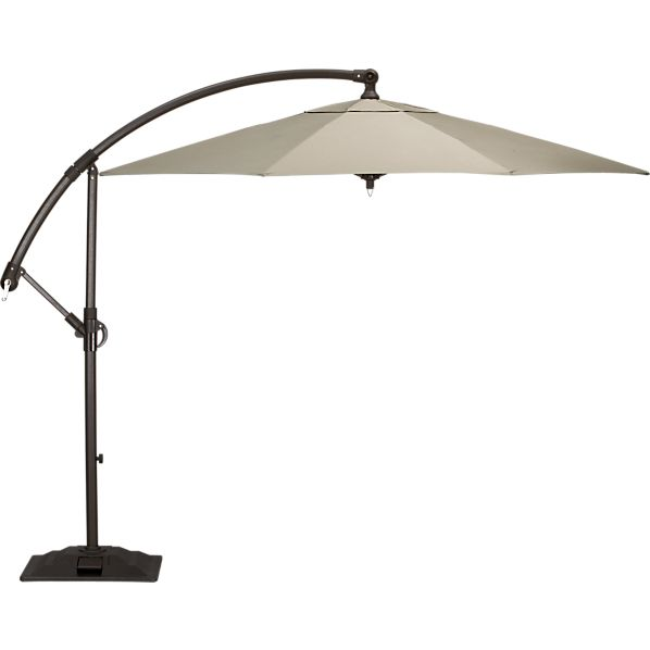 10' Round Sunbrella ® Stone Free-Arm Umbrella with Base