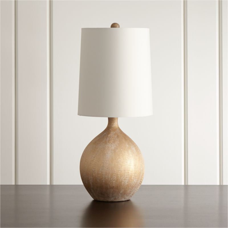 Vera champagne table lamp reviews crate and barrel