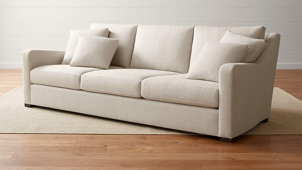 verano cream extra deep sofa crate and barrel. Black Bedroom Furniture Sets. Home Design Ideas