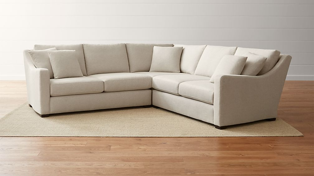 Verano Cream Canvas Sectional Sofa Crate and Barrel