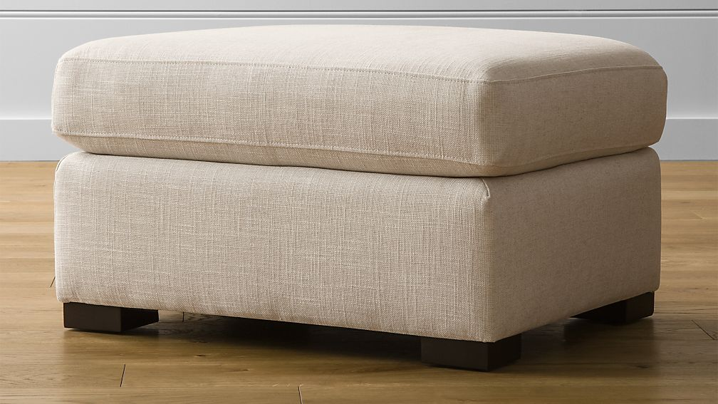 Verano ottoman crate and barrel for Crate and barrel pouf