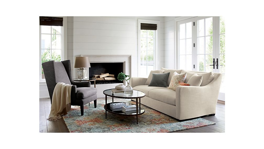 Verano Cream Sofa | Crate and Barrel