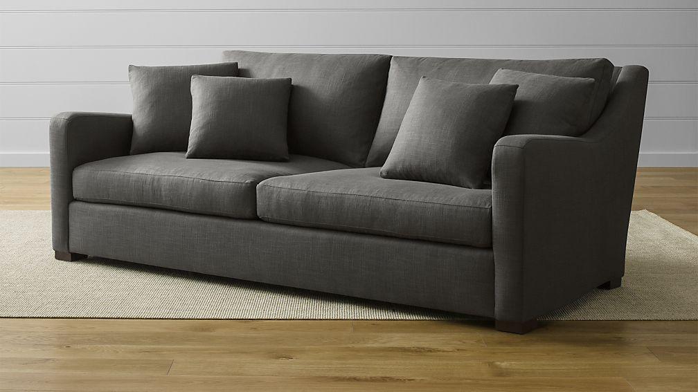 verano medium grey sofa reviews crate and barrel rh crateandbarrel com