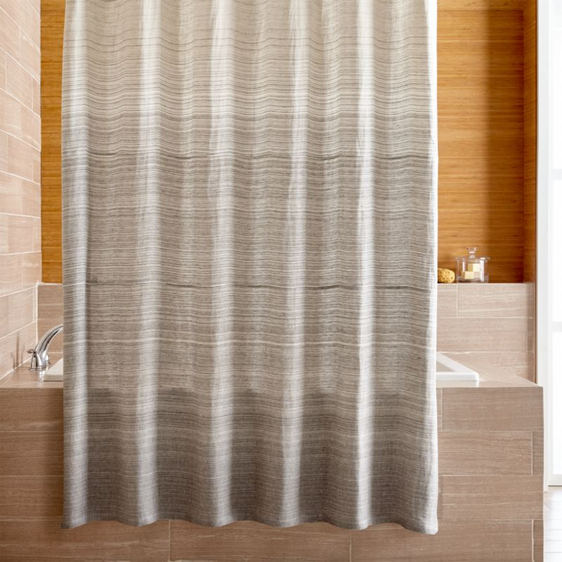 grey shower curtain liner. Veres Grey Ombre Shower Curtain Curtains  Rings and Liners Crate Barrel