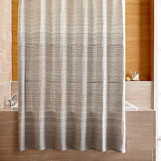 striped coredshcu red curtain shower coral shells