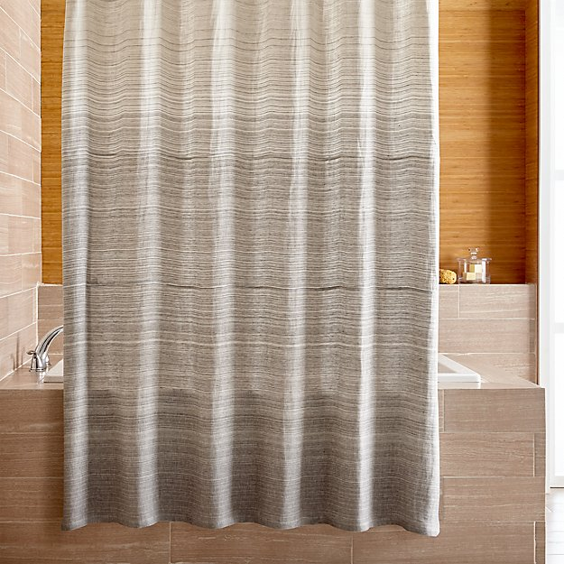 ombre shower curtain veres grey ombre shower curtain reviews crate and barrel 30442