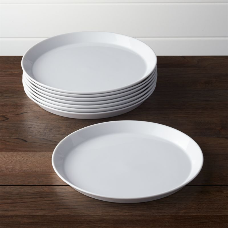 Bathroom sets for kids - Set Of 8 Verge Dinner Plates Crate And Barrel