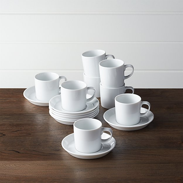 Set of 8 Verge 4 oz. Espresso Cups and Saucers - Image 1 of 2