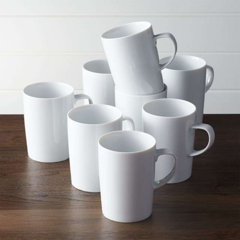 Clean, simple and beautifully balanced, this white porcelain dinnerware designed by Martin Hunt with flared rims and straight sides is the ideal blank canvas for your culinary creations.<br /><br /><NEWTAG/><ul><li>Porcelain</li><li>18 oz.</li><li>Designed by Martin Hunt</li><li>Dishwasher-, microwave- and oven-safe to 350 degrees</li><li>Made in Sri Lanka</li></ul>