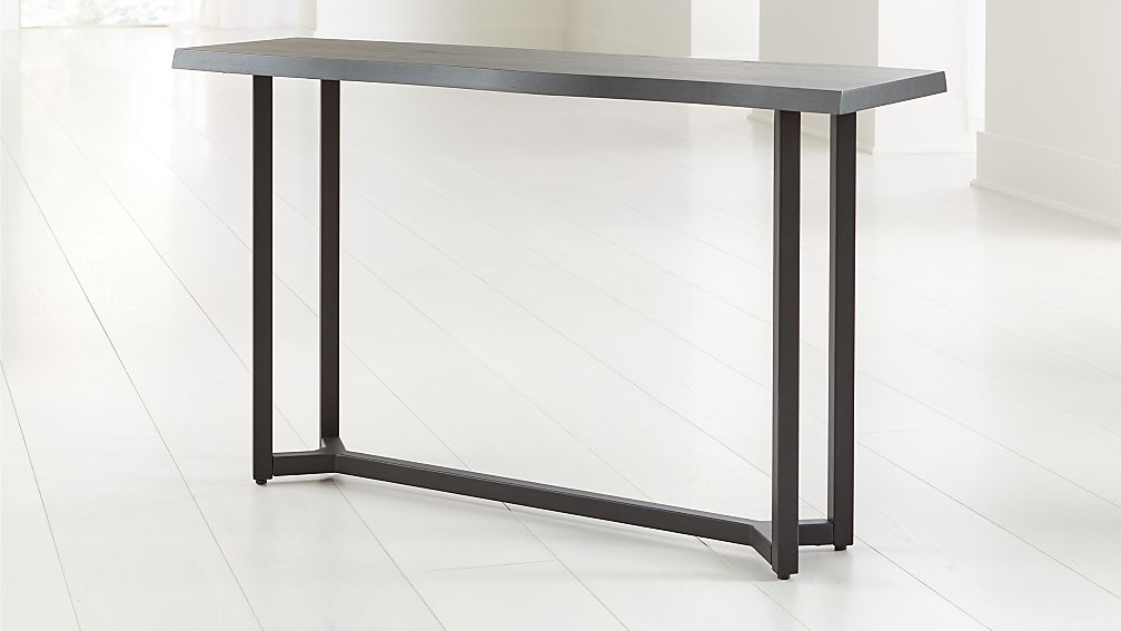 Verge Black Live Edge Console Table - Image 1 of 6