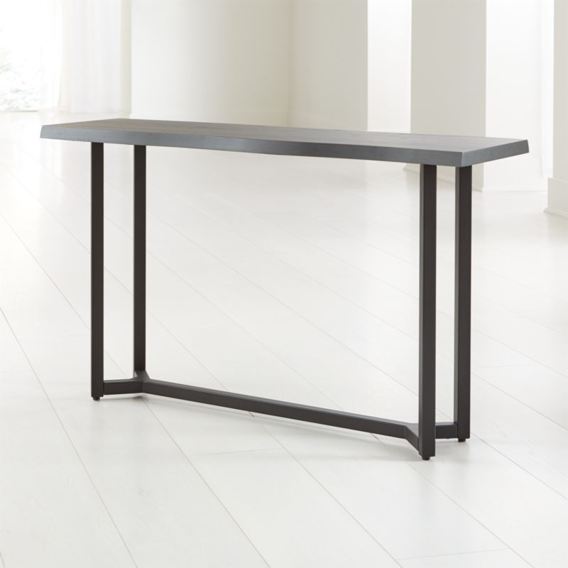 Verge Black Live Edge Console Table Crate And Barrel Canada