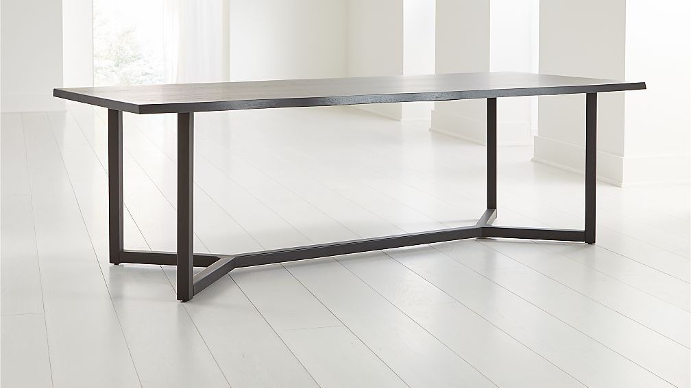 Verge Black Live Edge Dining Tables - Image 1 of 7