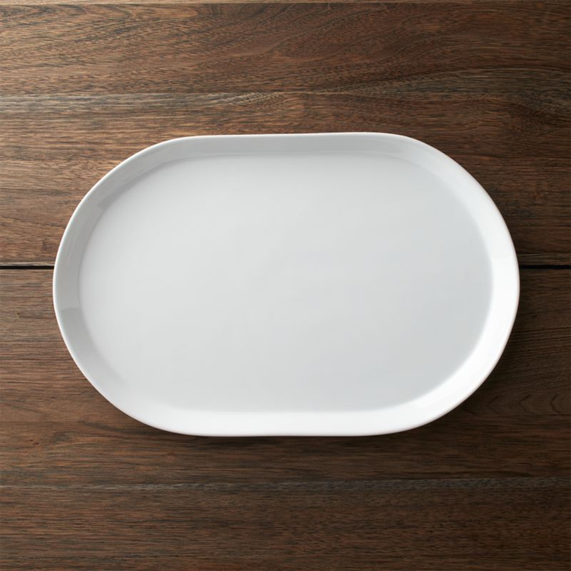Verge 15 25 Quot Oval Serving Platter Reviews Crate And Barrel