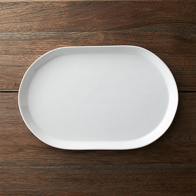 Verge 15 25 Oval Serving Platter Reviews Crate And Barrel