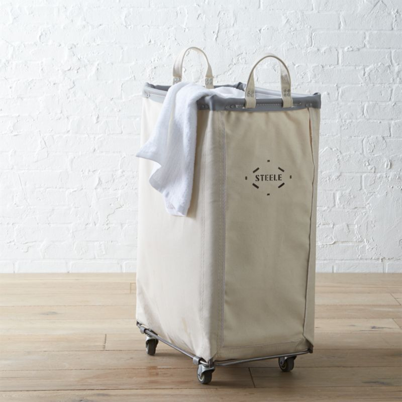Steele Vertical Canvas Laundry Bin