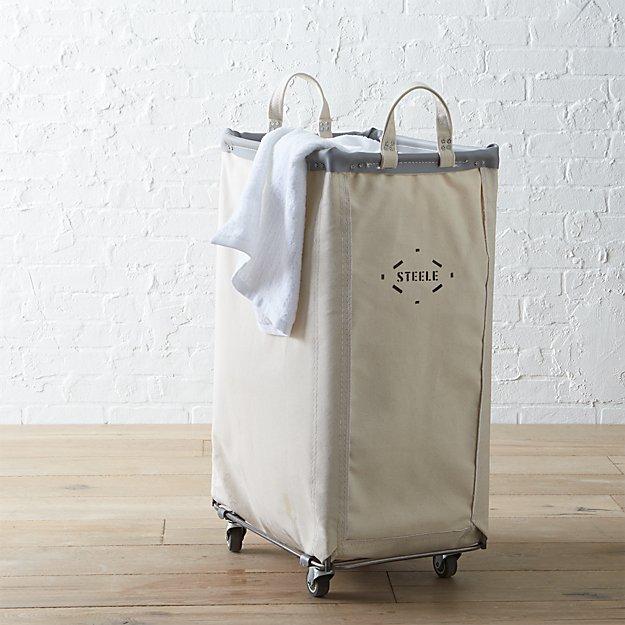 6304477ad83f Steele ® Vertical Canvas Laundry Bin