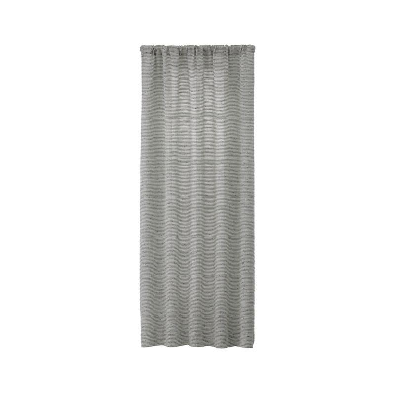 vesta textured curtain panel 50x96 reviews crate and barrel. Black Bedroom Furniture Sets. Home Design Ideas