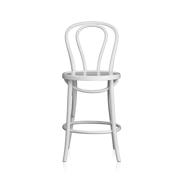Vienna White Counter Stool