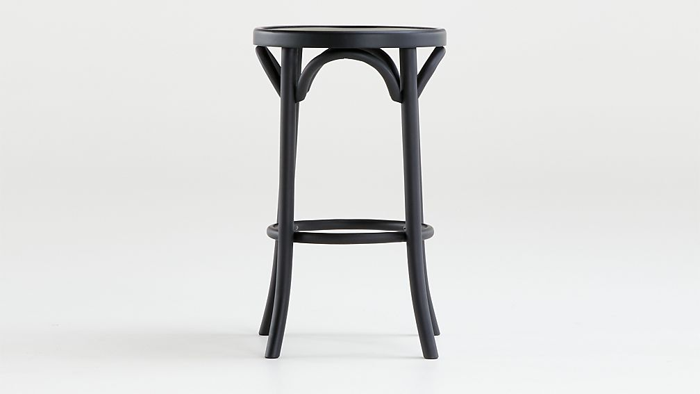 Vienna Matte Black Backless Counter Stool - Image 1 of 4