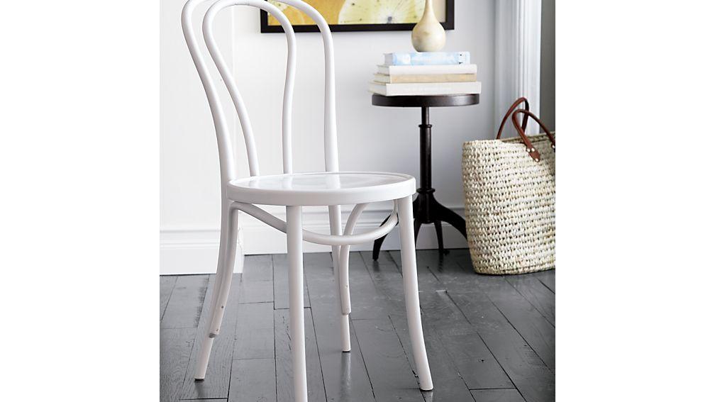 Vienna White Wood Dining Chair